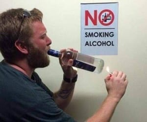 alcohol, funny, and smoking image