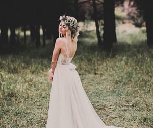 bride, dress, and wedding image
