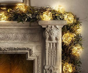 christmas, mantle, and decorations image