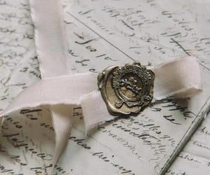 handwriting, rose, and wax seal image