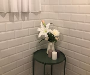 flower, wall, and while image