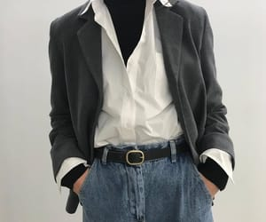 blazer, denim, and jeans image