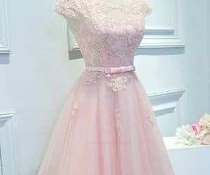 pink homecoming dress, lace prom dresses, and lace prom dress image