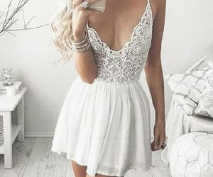 homecoming dress, homecoming dresses v-neck, and lace homecoming dresses image