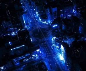 blue, city, and night image