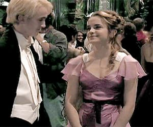 draco malfoy, hermione granger, and hermione and draco image