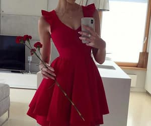 red prom dresses and a-line homecoming dresses image