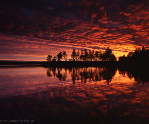 clouds, lake, and sunset image