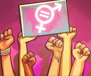 feminist, fight, and equality image