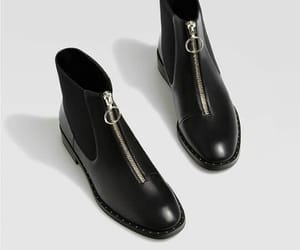 ankle boots, black, and fashion image