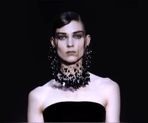 black veil, dark fashion, and gif image