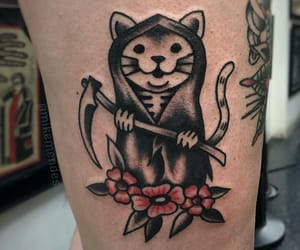 art, body art, and cat image