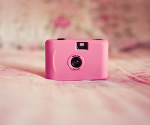 pink, camera, and pastel image