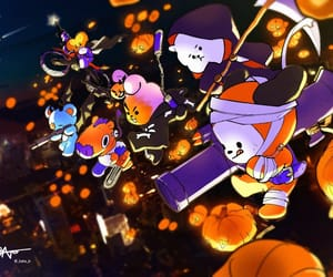attack, fanart, and Halloween image