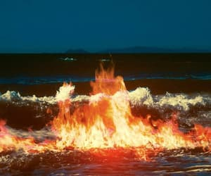 blue, dark, and fire image
