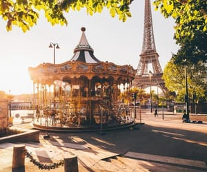 paris, france, and carousel image