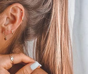 nails, earrings, and piercing image
