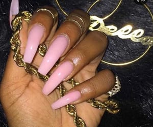 details, gold, and nails image