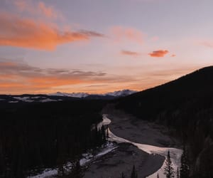happy, mountain, and sunset image