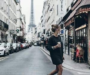 city, coffee, and paris image