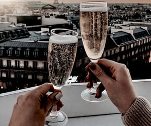 drink, paris, and champagne image