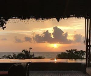 sunset, sky, and sunrise image