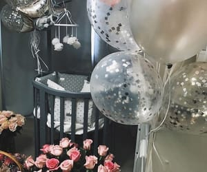 baby, balloons, and decorate image