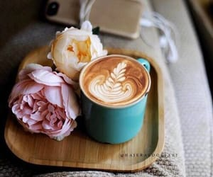 coffee and peonies image