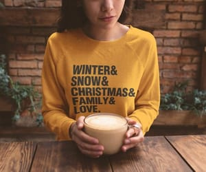 etsy, crewneck sweatshirt, and snow image