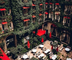 red, hotel, and green image
