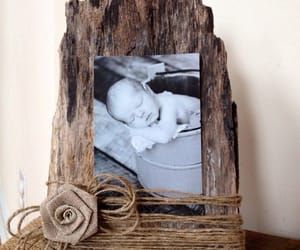 frame, rustic, and wood image