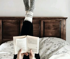 book, read, and winter image