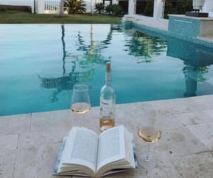 chill, reading, and drinks image
