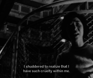 movie, subtitles, and black and white image