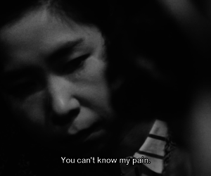 black and white, pain, and quote image