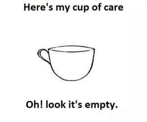 care, empty, and cup image