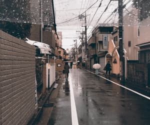 aesthetic, city, and rain image