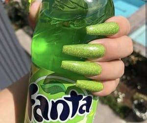 fanta, glitter, and manicure image