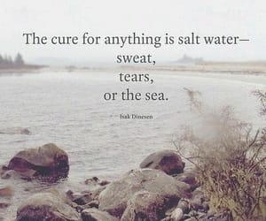 quotes, tears, and sea image