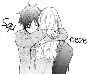 manga, horimiya, and couple image