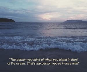 quotes, ocean, and love image