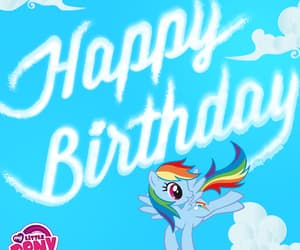 blue, clouds, and happy birthday image
