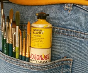 art, yellow, and Brushes image