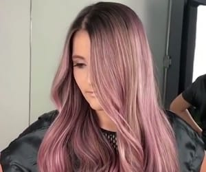 hairstyle, pink, and pink hair image