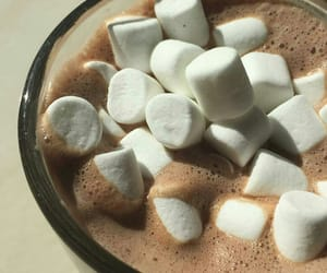 marshmallow, sweet, and cocoa image