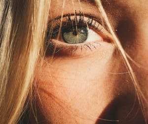 eyes, blonde, and green image