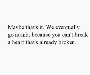 NUMB, broken, and heart image
