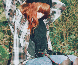 girl, red hair, and vintage image