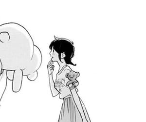 kawaii, manga, and monochrome image
