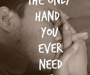 hand, hold, and quotes image